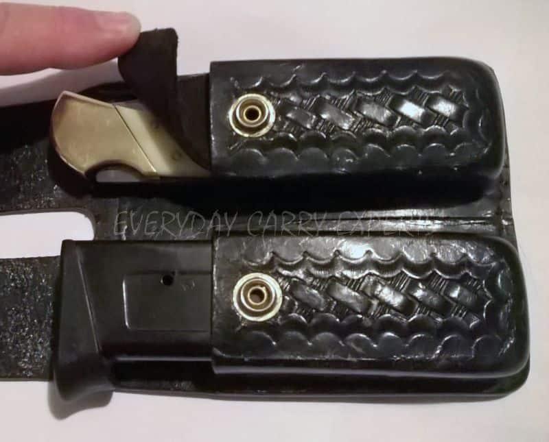 double pouch open