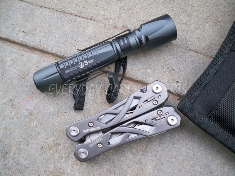 tactical flashlight and multitool
