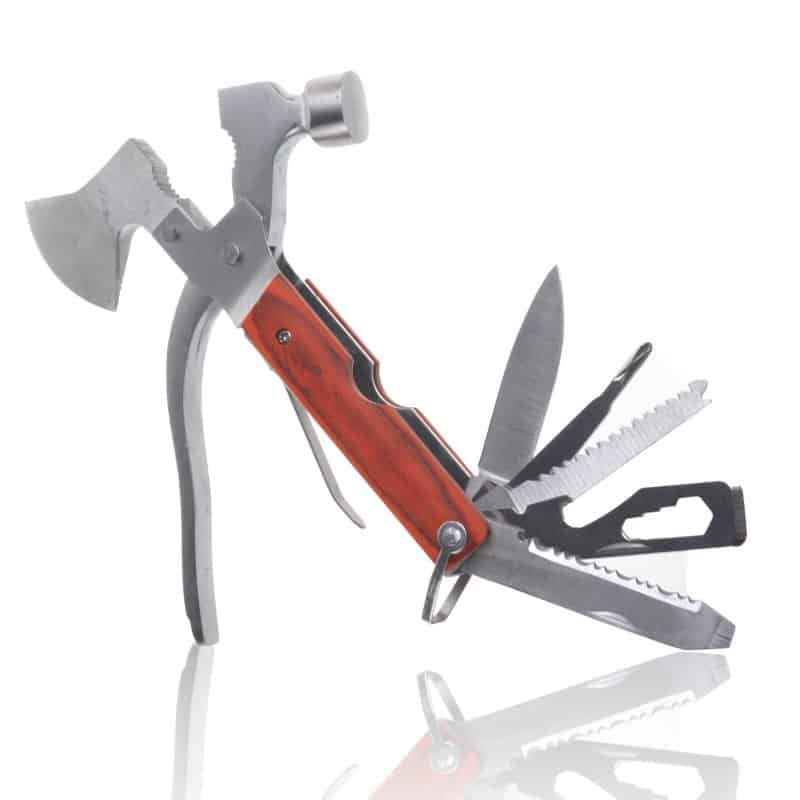 CoBean 8 in 1 multi-function stainless steel hammer wrench pliers saw blade knife tools set