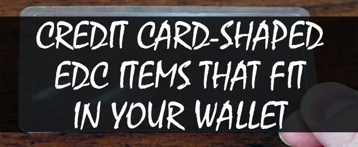 credit card shaped survival items