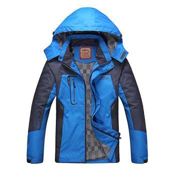Diamond Candy men Hooded Softshell Outdoor Raincoat